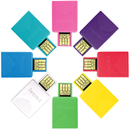 Our trackey webkeys come in different colours